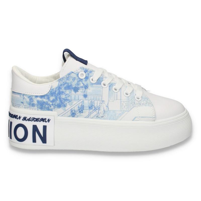 Sneakers dama, fashion, cu talpa inalta - W139
