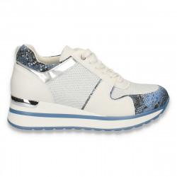 Sneakers moderni, pentru femei, alb-albastru - W140