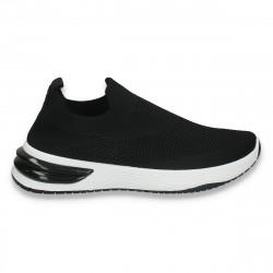 Sneakers tip soseta, pentru dama, negri - W144