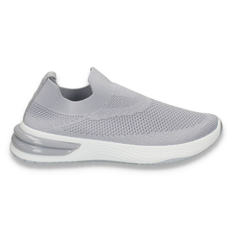 Sneakers tip soseta, pentru dama, gri - W145