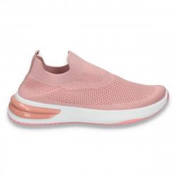 Sneakers tip soseta, pentru dama, roz - W148