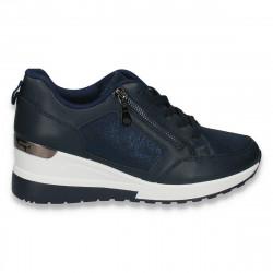 Sneakers moderni dama, cu platforma, bleumarin - W149