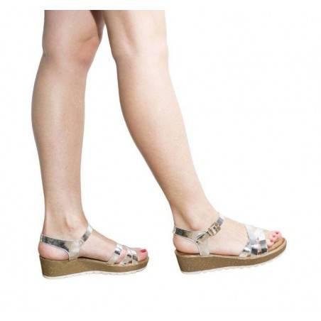Sandale dama argintii, marca Mellisa