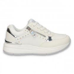 Sneakers moderni dama, albi - W157