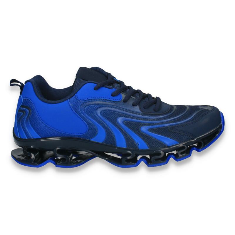 Pantofi sport pentru barbati , din material textil, albastru - W163