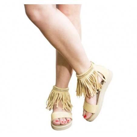 Sandale dama casual bej marca Dame Rose VGFP201BE.MS