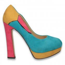 Pantofi in 3 culori, cu toc foarte inalt, pentru dama - LS445