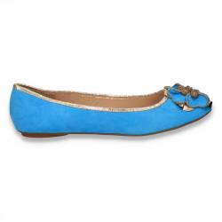 Balerini dama, cu margele, albastru deschis - LS460