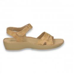 Sandale comode pentru femei, camel - LS474