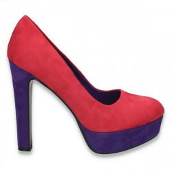 Pantofi femei extravaganti, fucsia-mov - LS489