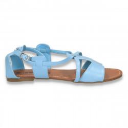 Sandale dama, cu talpa joasa, albastru deschis - LS517
