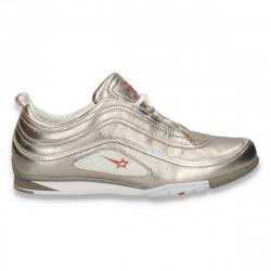 Pantofi dama sport-casual, cu talpa joasa, aurii - LS522