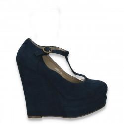 Incaltaminte dama, fashion, platforma inalta, bleumarin - LS526