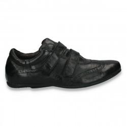 Pantofi casual barbati, din piele, negri - LS529