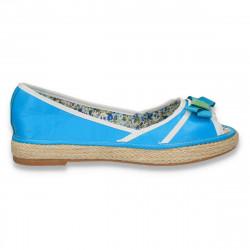 Balerini dama, cu varf decupat, albastru deschis- LS542