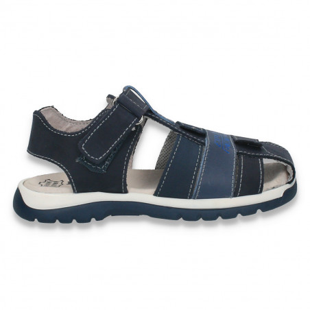 Sandale baieti, din piele, bleumarin - LS557