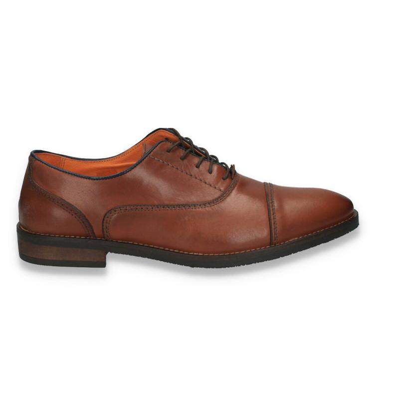 Pantofi eleganti, din piele, pentru barbati, maro - LS564