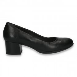 Pantofi dama office, cu toc mic, Prima Donna, negri - W167
