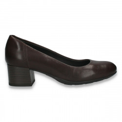 Pantofi dama office, cu toc mic, Prima Donna, maro - W168