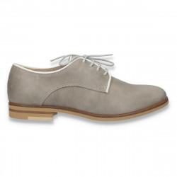 Pantofi dama casual, din piele, marca Eram, gri - W169