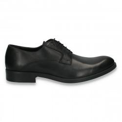 Pantofi barbati din piele, Bata, negri - W172
