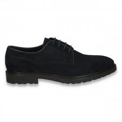 Pantofi barbati casual, din piele intoarsa, Mango, bleumarin - W173