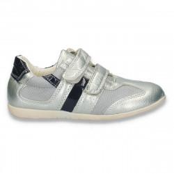 Pantofi sport pentru copii, argintii - W175
