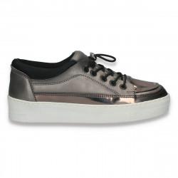 Pantofi sport-casual pentru femei, argintii - W181