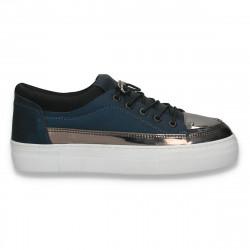 Pantofi sport-casual pentru femei, bleumarin - W185