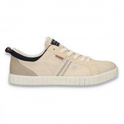 Pantofi casual din panza, pentru barbati, bej - W187