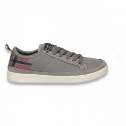 Pantofi casual din panza, pentru barbati, gri - W199