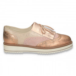 Pantofi casual pentru femei, roz-bej - W200
