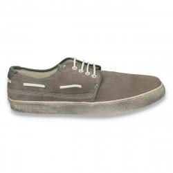 Pantofi casual din piele, pentru barbati, gri - W207