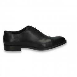 Pantofi barbati din piele, eleganti, negri - W235