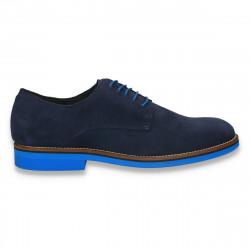 Pantofi barbati smart-casual, din piele intoarsa, Aldo, bleumarin-albastru - W236