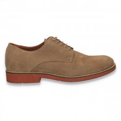 Pantofi barbati smart-casual, din piele intoarsa, Aldo, camel - W237