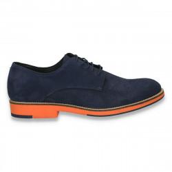 Pantofi barbati smart-casual, din piele intoarsa, Aldo, bleumarin - W238