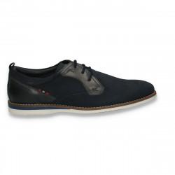 Pantofi barbati, din piele intoarsa, bleumarin - W246
