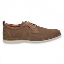 Pantofi barbati, din piele intoarsa, camel - W247