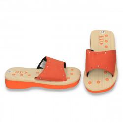 Slapi fete din spuma, cu strasuri, portocalii - LS574