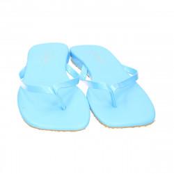Saboti flip flops, albastru deschis - LS587