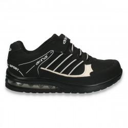 Pantofi sport baieti, negru-alb - W251
