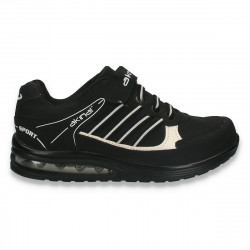Pantofi sport baieti, alb-negru - W252
