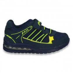 Pantofi sport baieti, bleumarin-verde - W258