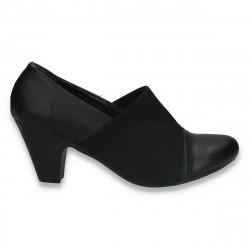 Pantofi dama toc mic, negri - W264