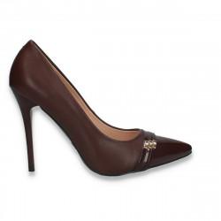 Pantofi stiletto, pentru dama, Bordeaux - W266