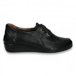 Pantofi dama clasici cu talpa intreaga, negri - W269