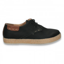Pantofi casual dama, cu sireturi, negri - W329