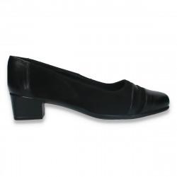 Pantofi dama clasici, din piele, cu toc mic - W336