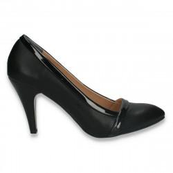 Pantofi stiletto, pentru dama, negri - W344